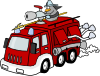free vector Fire Engine clip art