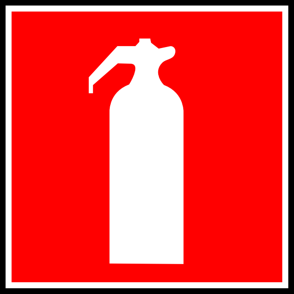 free vector Fire Extinguisher Sign clip art
