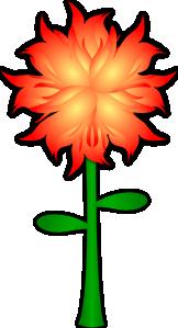 free vector Fire Flower  clip art
