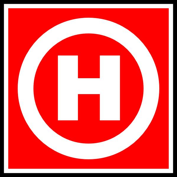 free vector Fire Hydrant Sign Symbol clip art