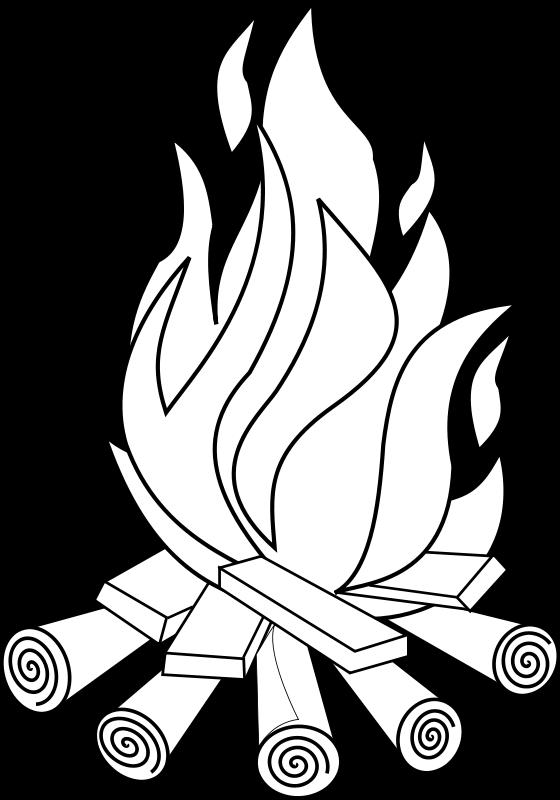 free vector Fire Line Art