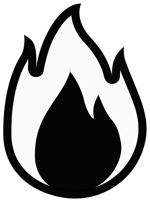free vector Fire - Monochrome