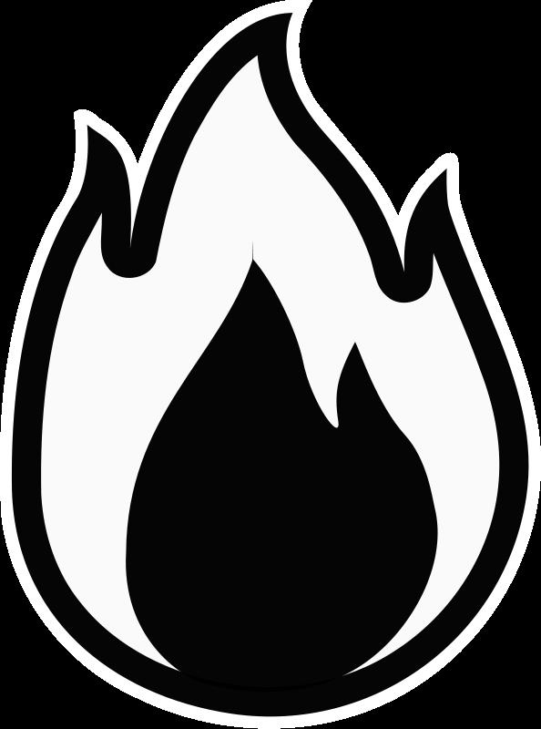 Fire - Monochrome Free Vector / 4Vector