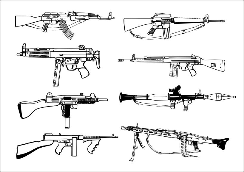 free vector Firearms vector