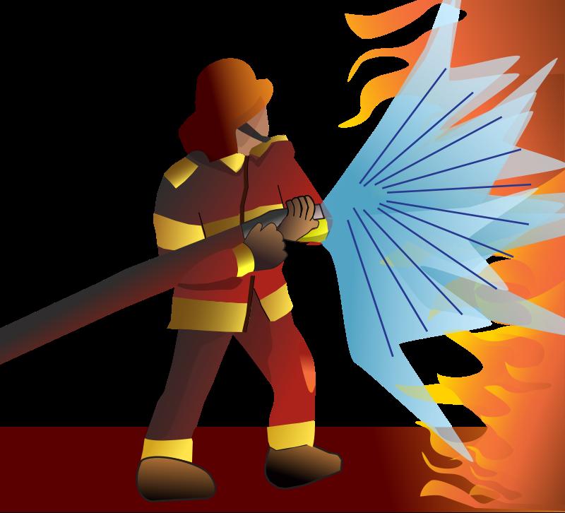 free vector Firefighter/pompier