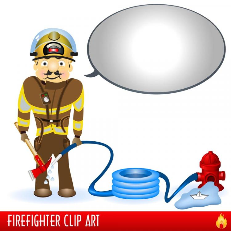 free vector Firefighters and fire equipment 03 vector