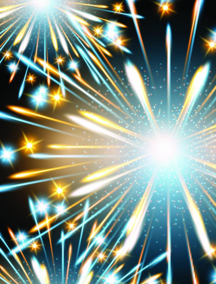 free vector Fireworks effect 03 vector