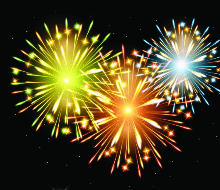 free vector Fireworks effect 04 vector