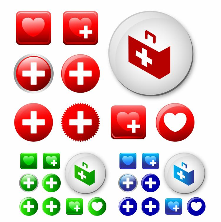 free vector First aid icons