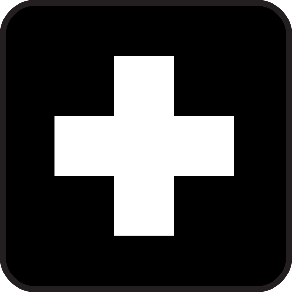 free vector First Aid Map Sign clip art