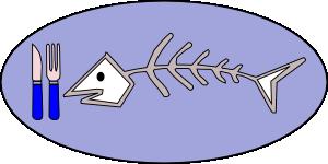 free vector Fish Bones Food clip art