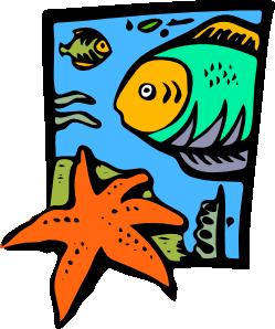 free vector Fish Marine Life Starfish clip art
