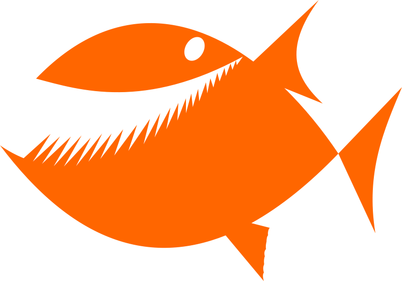 free vector Fish silhouette by Rones