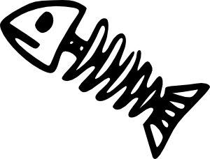free vector Fish Skeleton clip art