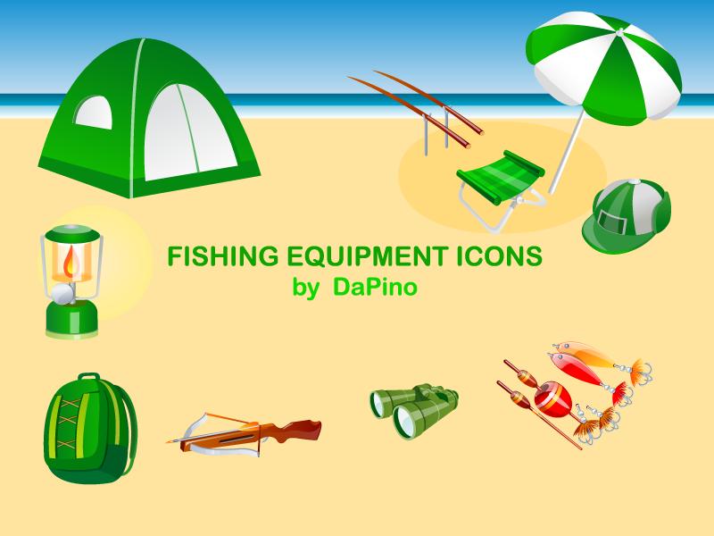 free vector Fishing Equipment Icons