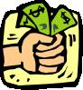 free vector Fist Full Of Money clip art