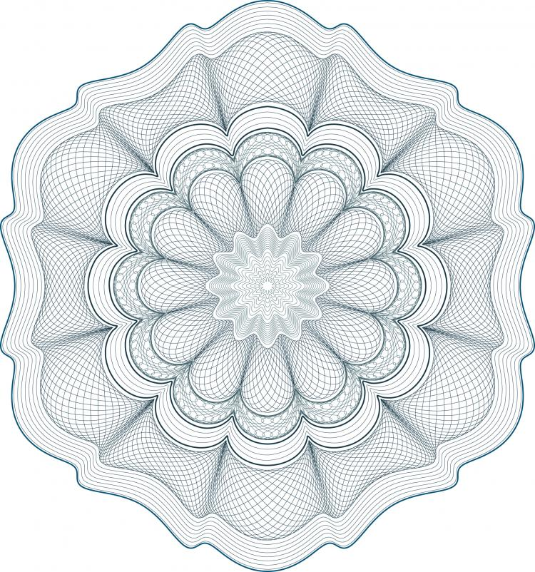 free vector Five anticounterfeiting shading pattern vector