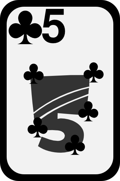 free vector Five Of Clubs clip art