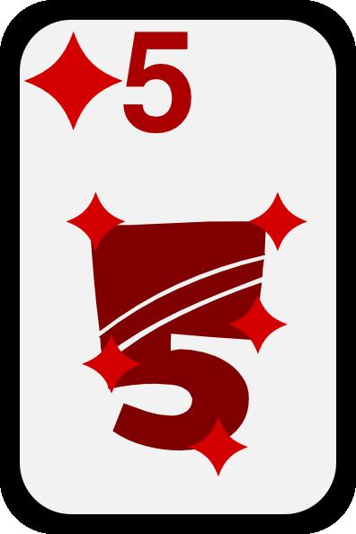 free vector Five Of Diamonds clip art