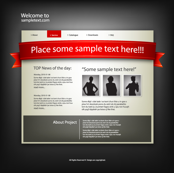 free vector Five sophisticated web template vector