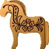 free vector Fjord Horse Aitor Avila clip art