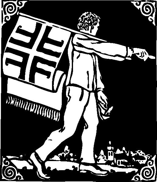 free vector Flag Bearer clip art