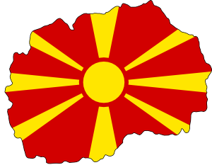 free vector Flag Map Of Fyr Macedonia clip art