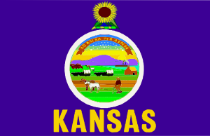 free vector Flag Of Kansas clip art