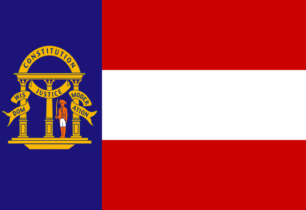 free vector Flag Of The State Of Georgia Coat clip art