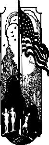 free vector Flag Raising clip art