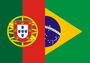 free vector Flags Of Brazil And Portugal clip art