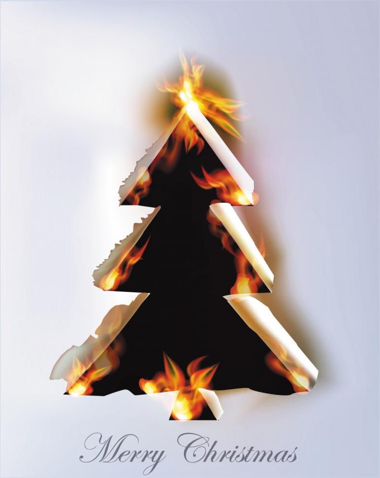 free vector Flame burning paper effect 01 vector