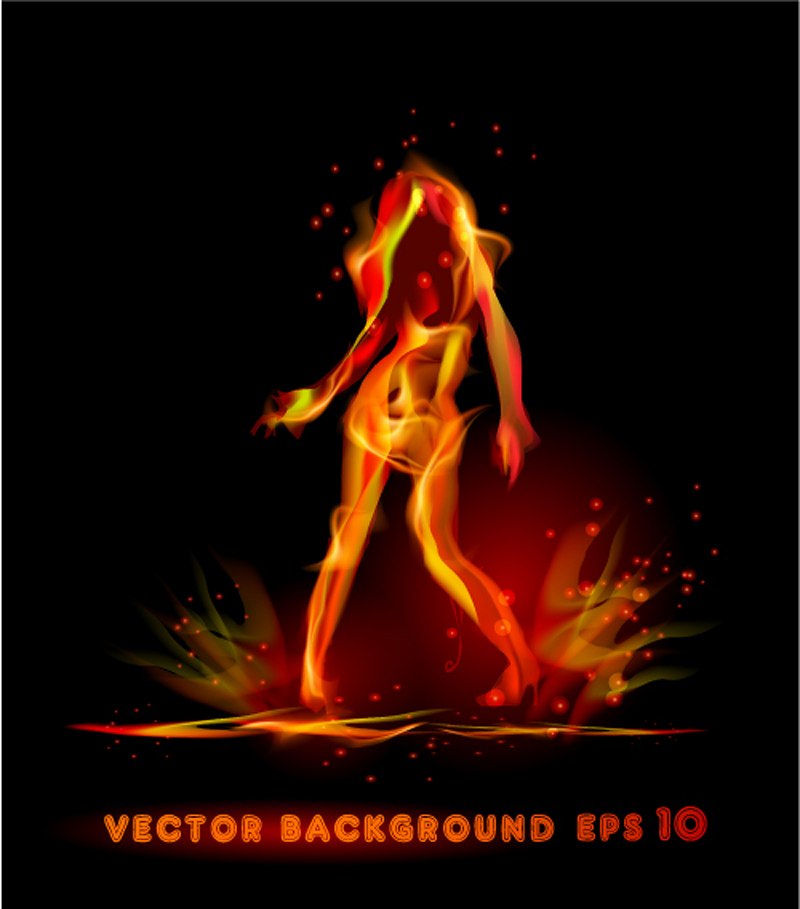 free vector Flame effect 03 vector