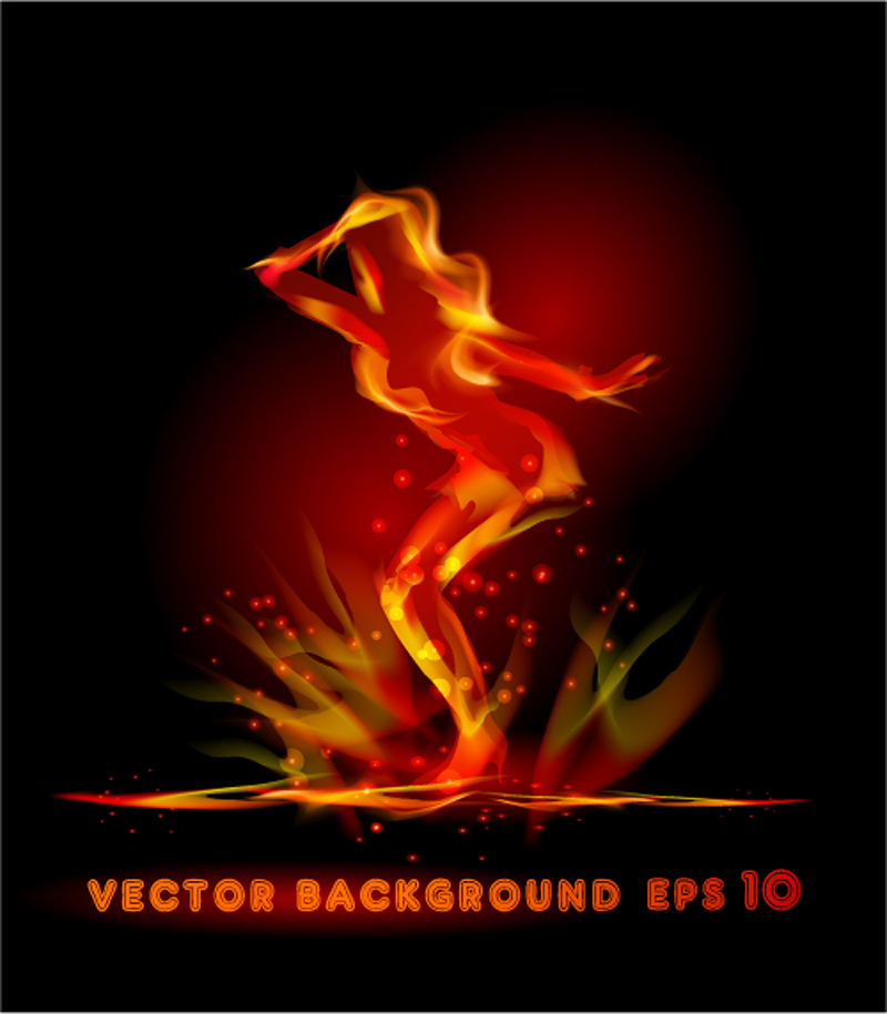 free vector Flame effect 04 vector