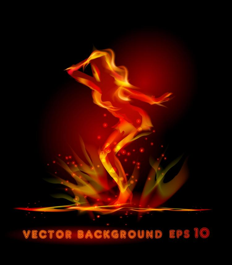 free vector Flame effects 05 vector
