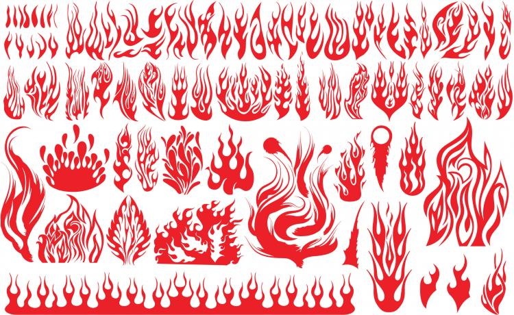 free vector Flame pattern vector