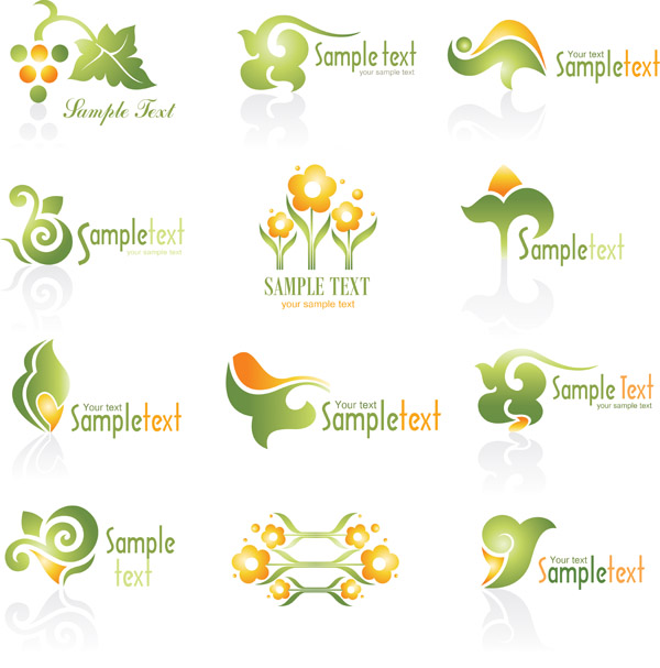free vector Flame style logo vector
