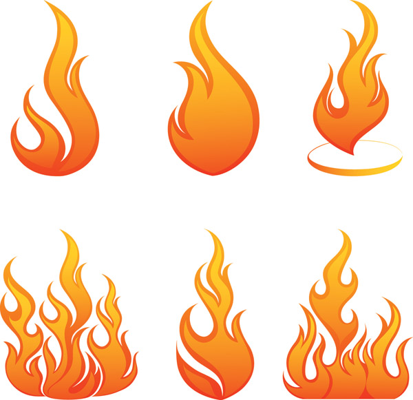 free vector Flame vector 6123