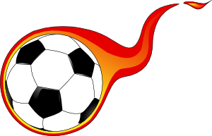 free vector Flaming Soccer Ball clip art