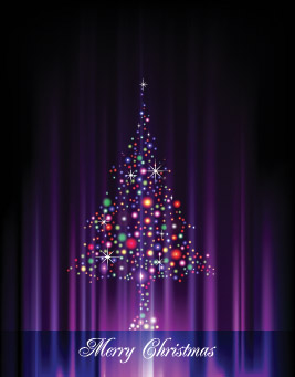 free vector Flash christmas tree vector