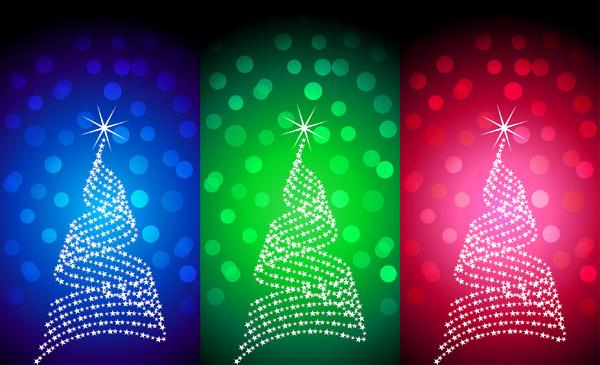 free vector Flash christmas tree vector