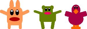 free vector Flat Cuties Characters clip art