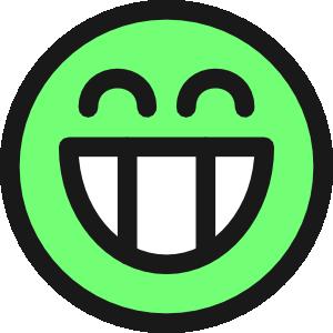 free vector Flat Grin Smiley Emotion Icon Emoticon clip art