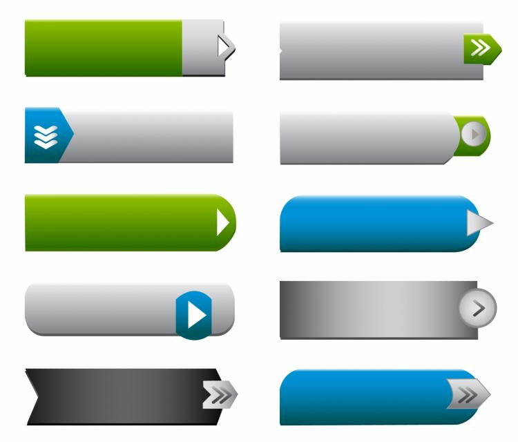 free vector Flat web buttons elements