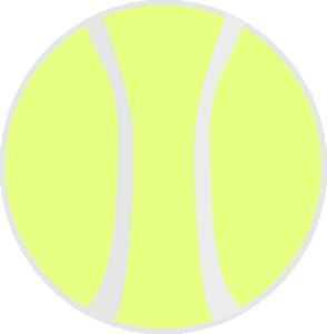 free vector Flat Yellow Tennis Ball clip art