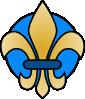 free vector Fleur De Lis Gold clip art
