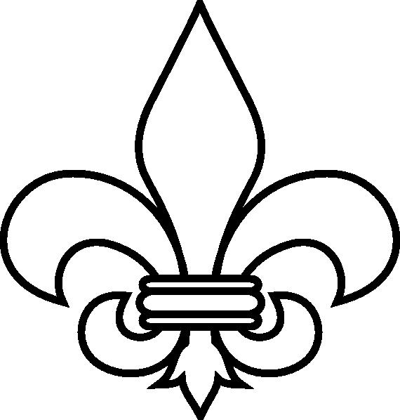 free vector Fleur De Lis Outline clip art