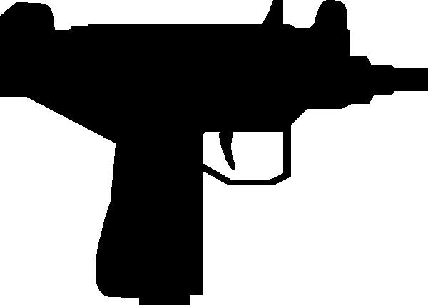free vector Floatingbrainiac Uzi Silhouette clip art