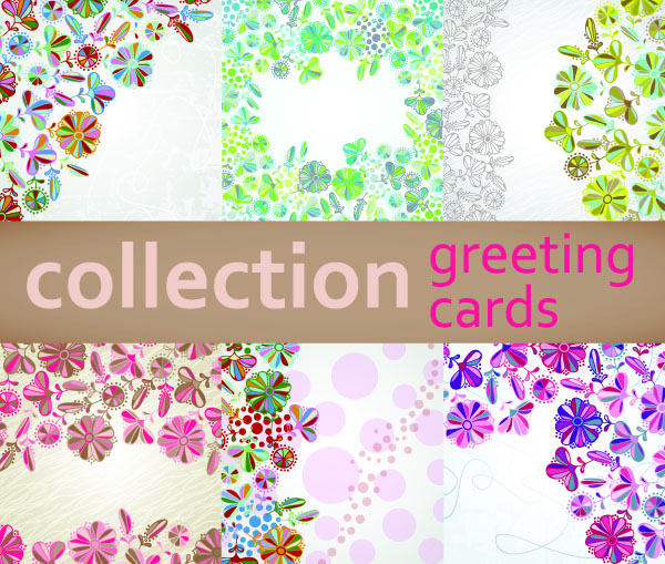 free vector Floral background vector cute