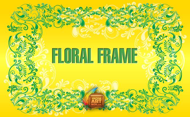 free vector Floral Border Frame